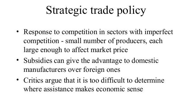تعریف سیاست استراتژیک تجاری