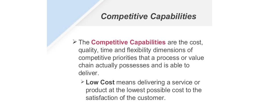 تعریف قابلیت های رقابتی استراتژیک چیست