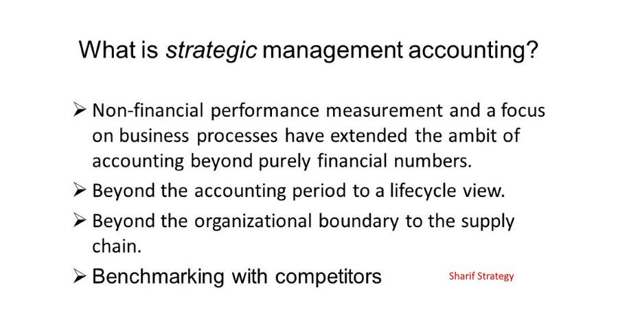 حسابداری مدیریت استراتژیک با استفاده از یک سری تکنیک ها ارزیابی می شود. در راستای تحقق استفاده از تکنیک های حسابداری مدیریت استراتژیک، دو شرط از مفهوم استراتژی باید تحقق یابد.