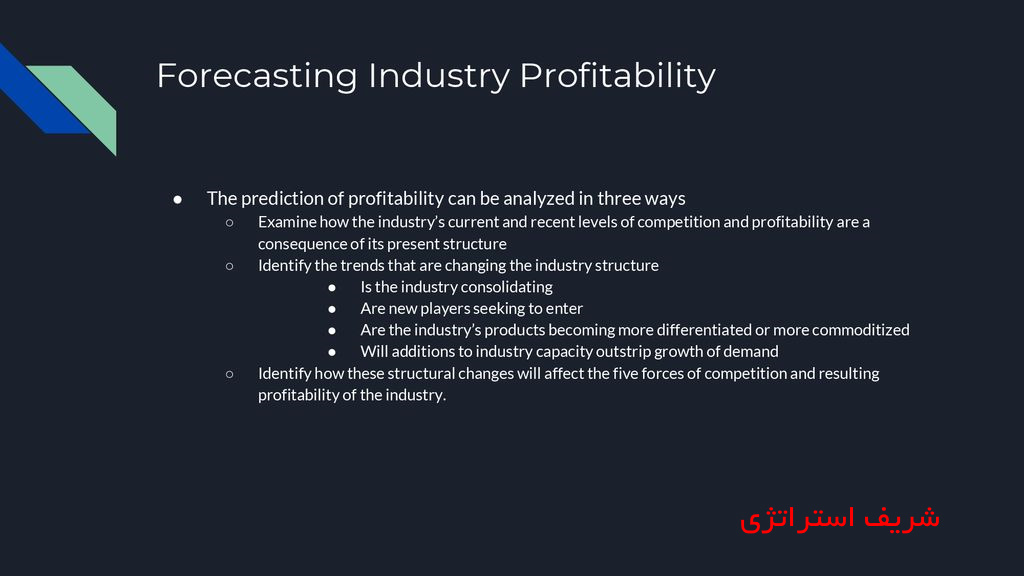 To forecast industry profitability consistently accurately, professional analysts have to:@ Pages and References: p78 a. Look at the link between industry and