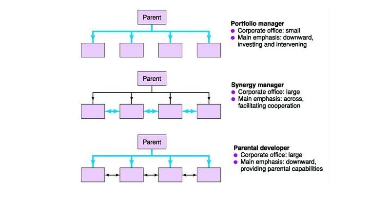 انواع استراتژی های سازمانی در هلدینگ