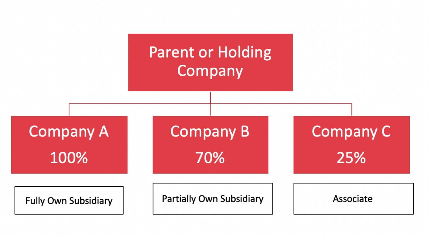 ساختار هلدینگ و سازمانی مادر جهت تعیین استراتژی های بنگاه مادر و مدیریت استراتژیک و برنامه ریزی عملیاتی