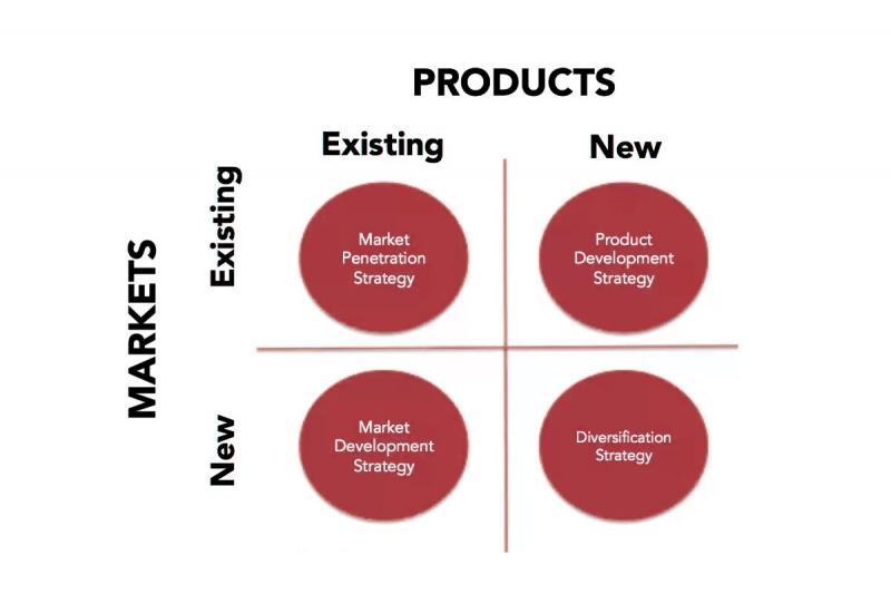 استراتژی توسعه محصول در ماتریس انساف
